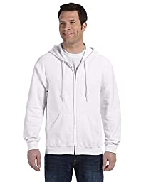 �Gildan Adult Heavy Blend� Full-Zip Hooded Sweatshirt (White) (2X-Large)