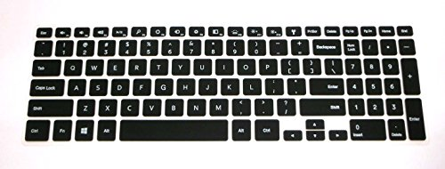 """Bingobuy® Semi-Black Backlit Ultra Thin High Quality Silicone Keyboard Protector Skin Cover For 15.6'' New Dell Inspiron 15 7000 Series 15-7537(If Your """"Enter"""" Key Looks Like """"7"""", Our Skin Can'T Fit) With Bingobuy Card Case For Credit, Bank, Id Card"""