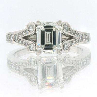 2.05ct Emerald Cut Diamond Engagement Anniversary