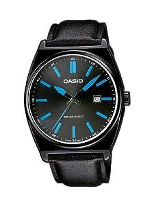 Casio Herren-Armbanduhr XL Casio Collection Analog Quarz Leder MTP-1343L-1B2EF