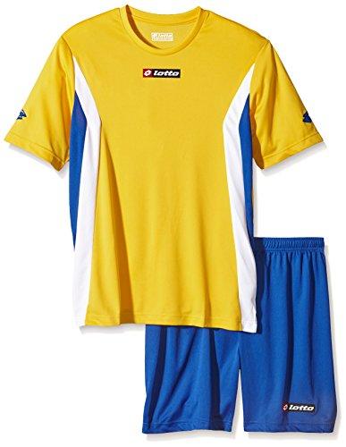 lotto-sport-divisa-da-calcio-maglietta-e-shorts-da-uomo-giallo-yellow-royal-xxl