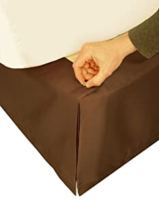 """Veratex Adjustable Bed Skirt Queen, Chocolate  """"Hike Up Your Skirt"""" Veratex"""
