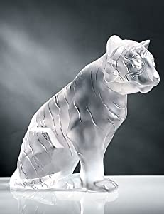 Lalique Figure Sitting Tiger - 11 2/5 in