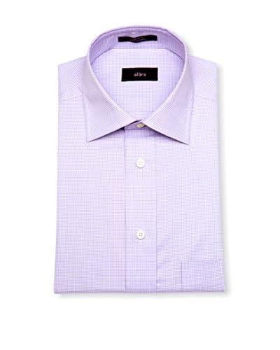 Alara Men's Houndstooth Modern Spread Collar Classic Fit Dress Shirt