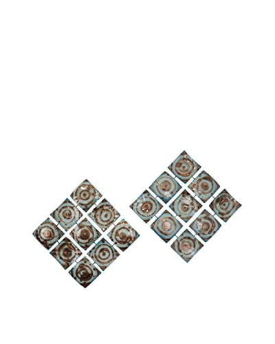 C'Jere By Artisan House Hypnotic S/2 Metal Wall Installation, Multi