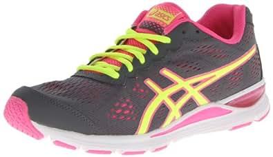 ASICS Women's Gel-Storm 2 Running Shoe,Storm/Flash Yellow/Pink,6.5 M US