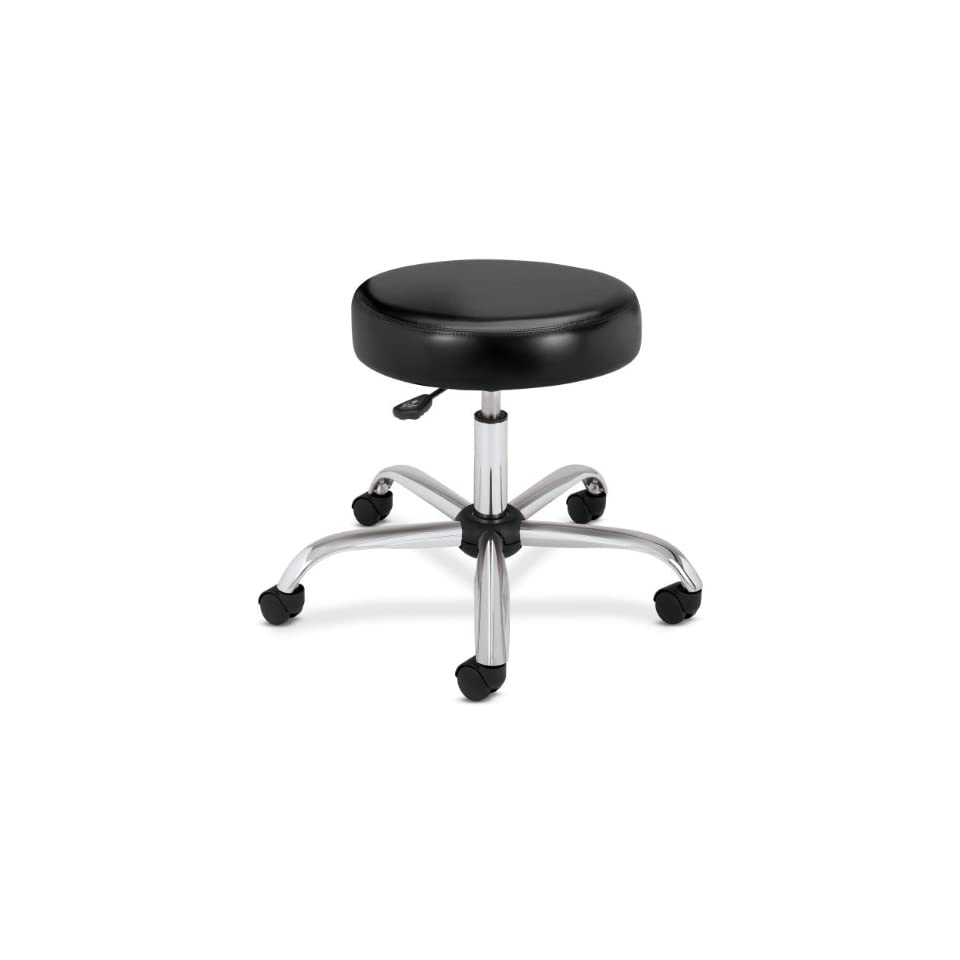 Hon Medical Exam Stool without Back, 24 1/4 by 27 1/4 by 17 1/4 22 Inch, Black