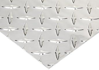 Aluminum 3003-H22 Diamond Tread Plate, Bright Finish, ASTM B209