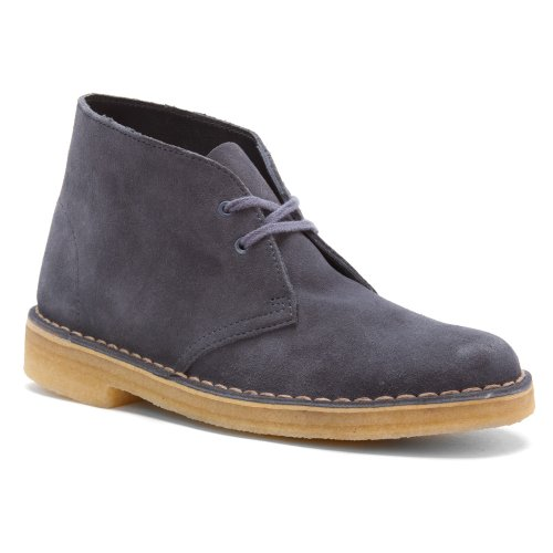 Clarks Women's Desert Boot Denim Blue Suede 8 M US