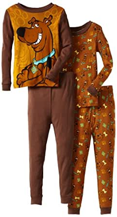 Scooby Doo Little Boys' All About Scooby Pajama Bottom 2 Pack Set, Brown, 4