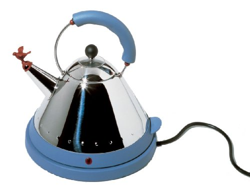 Alessi MG32AZ/USA Michael Graves Electric Kettle, Blue Best Deals