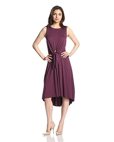 Three Dots Women's Tie Front Dress with Back Detail