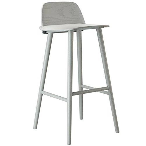 Muuto Nerd Bar Stool - Low - Seat height: 65 cm, Grey