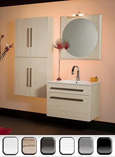 Mobile Arredo Bagno 74cm sospeso moderno disponibile in 6 colori on specchio Mobili