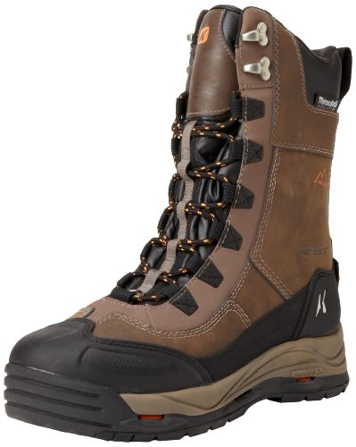 Korkers Footwear Men's Icejack Lace Snow Boot,Chocolate Chip,10.5 D US