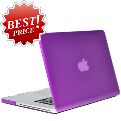 EC TECHNOLOGY 13-Inch See Thru Hard Case for New Macbook Pro 13.3-Inch A1278 with or without Thunderbolt Aluminum Unibody - Purple