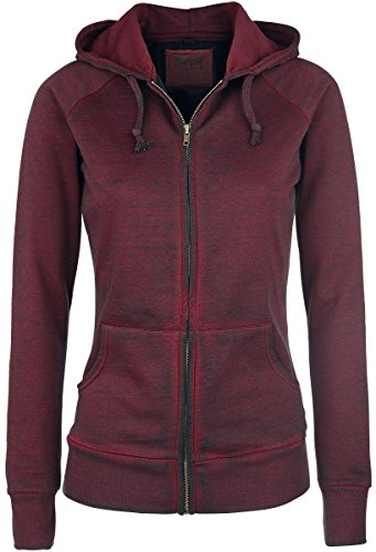 Black Premium by EMP Burnout Zipper Felpa jogging donna bordeaux XXL