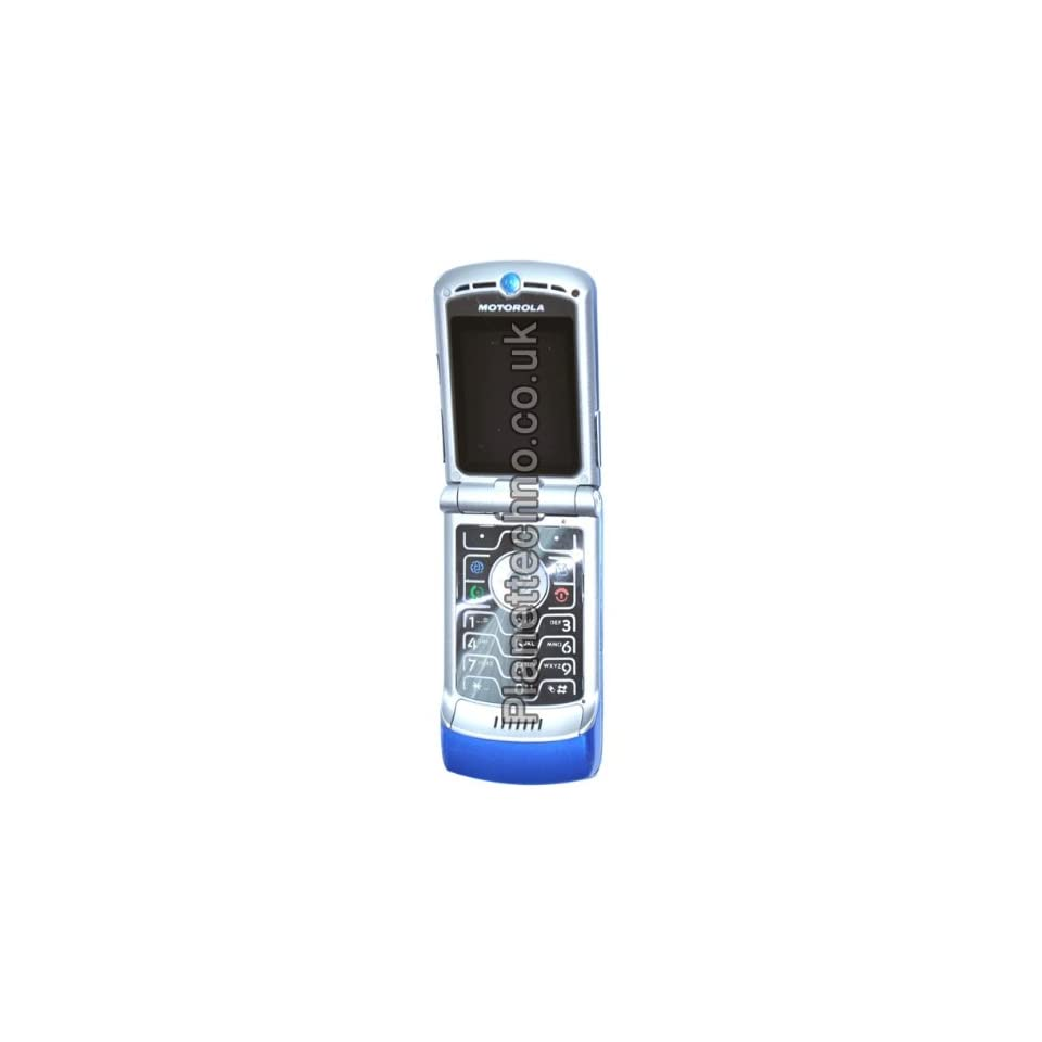 Motorola RAZR V3 Unlocked Phone with Camera and Video Player  International Version with No Warranty (LIGHT BLUE)