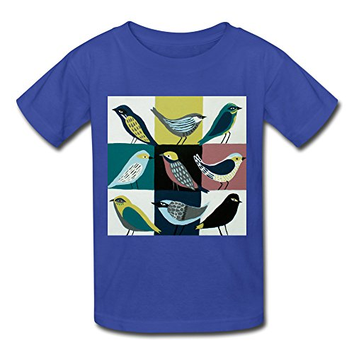 xj-cool-graphic-pajaro-abstraktes-kid-s-fashion-camiseta-azul-electrico