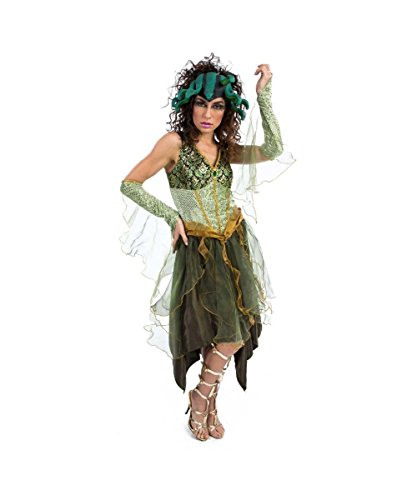 [Mystic Medusa Snakes Greek Mythology Womens Halloween Costume] (Medusa Headpiece Halloween Costume)
