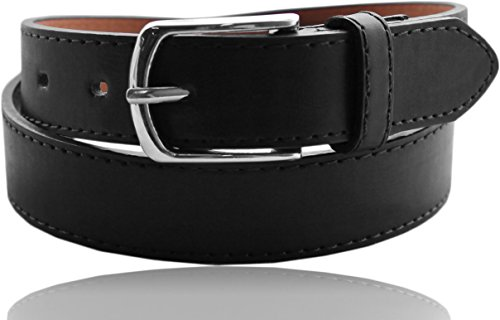 EURO Kids Premium Leather Belt - BK1026 - Black - Medium