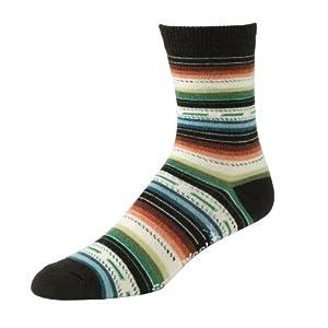 Smartwool Womens Margarita Crew Socks, Black size M (shoe size 7-9.5)
