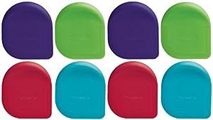 Progressive Nylon Pan Scrapers, Assorted Colors, Pack of 8