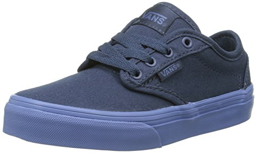 Vans Atwood Kid's/youth Shoes (Check Liner) Dress Blue Sneakers (11)