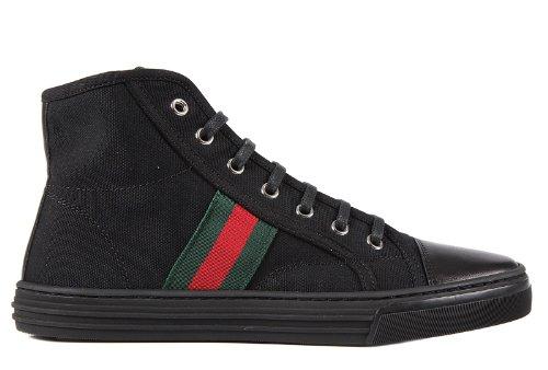 Gucci scarpe sneakers alte donna nuove originale nero EU 35 283613 F6LC0  1068 b51fc257c768