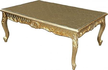 Casa Padrino Barock Couchtisch Gold Antik Look 120 x 80 cm - Mod2