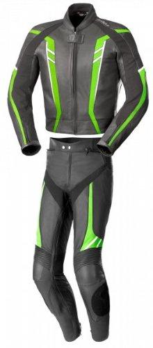 Büse Jerez Damen Lederkombi 2tlg., Farbe schwarz-grün, Größe D36