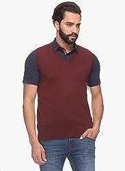 Raymond Men's Woolen Sweater (8907252538034_RMWY00453-M8_44_Maroon)