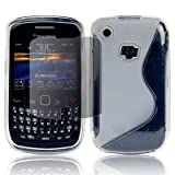 Clear For Blackberry Curve 8520 S Curve Wave Line TPU Gel Case Cover+4 x Screen Film - PART OF JJONLINESTORE ACCESSORIES