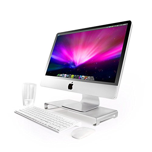 cojoie-aluminum-unibody-monitor-riser-stand-for-laptop-imac-stand-with-keyboard-storage-silver
