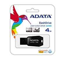Adata Dash Drive UV100 4 GB USB Flash Drive (Black)