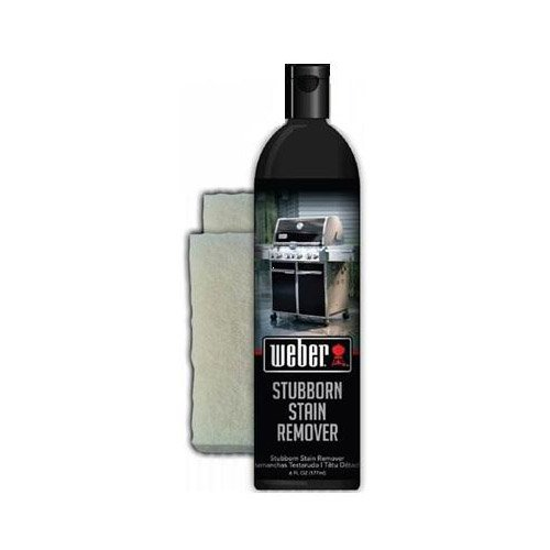 Weber W68 6-Ounce Stubborn Stain Remover for Grills with 2 Pads