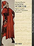 Gianni Schicchi - Puccini - Opera Vocal Score