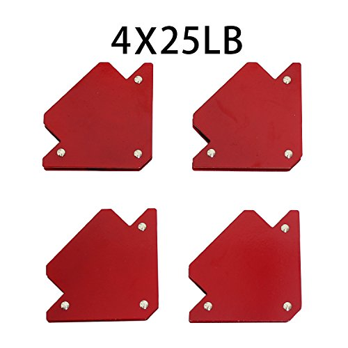 Welding Magnet New Set Tig Arc Mig Magnetic Welding Square 4 Pack 25LB-Brand TANKSTORM(76001))