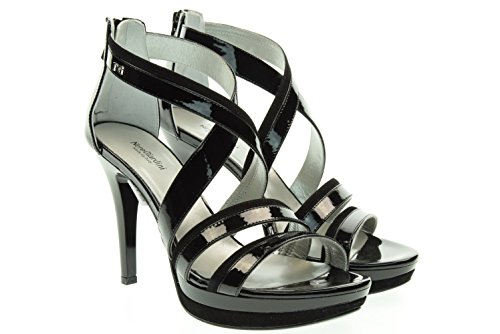 NERO GIARDINI donna sandali con tacco P615750DE/100 37 Nero