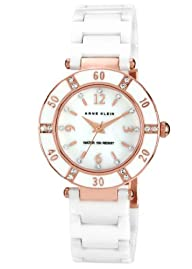 Anne Klein Women's 109416RGWT Swarovski Crystal-Accented Watch