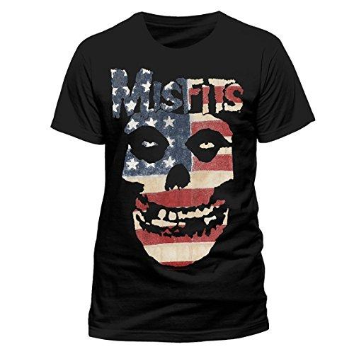 Misfits Misfits - Usa Skull-T-shirt  Uomo    nero X-Large