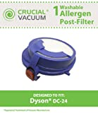 Dyson DC24 Post HEPA Filter fits Dyson DC24 Vacuum Cleaner; Washable & Reusable; Replaces Dyson DC24 Filter Part # 915928-01, 91592801; Designed & Engineered by Crucial Vacuum