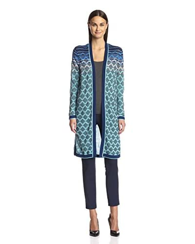 Magaschoni Women's Long Knit Cardigan