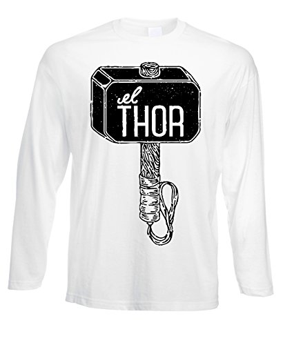 Tshirt a maniche lunghe Thor martello hammer - in cotone by Fashwork