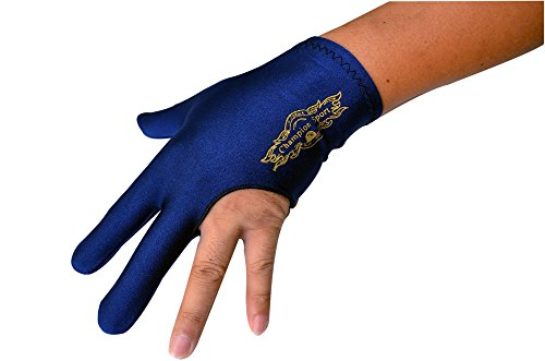 Purchase Champion Sport Dark Blue Left Hand Billiards Gloves for Pool Cues - Wear on the Left Hand, ...