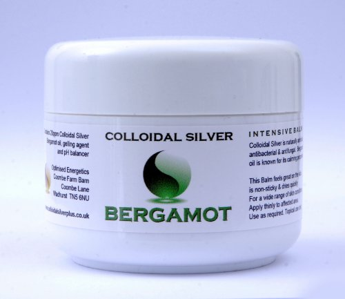 Effective Colloidal Silver Balm - Bergamot Formula - Antibacterial, Antifungal 100 ml Soothing Gel