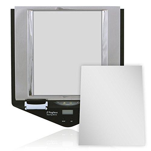 Zadro Fogless LED Lighted Fog Free Shower Mirror LCD Clock (Fogless Shower Mirror With Clock compare prices)