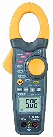 Reed ST-3347 True RMS Clamp-Meter, 1,000A AC/DC, Conductors to 30mm, Voltage, Capacitance, Frequency, Resistance, and Temperature Measurement