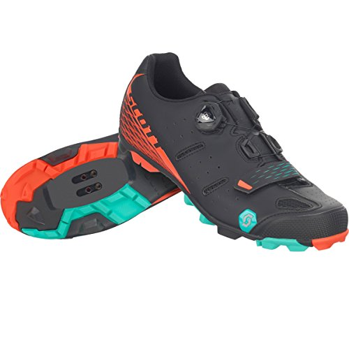 zapatillas-mtb-scott-elite-negro-naranja-talla-43
