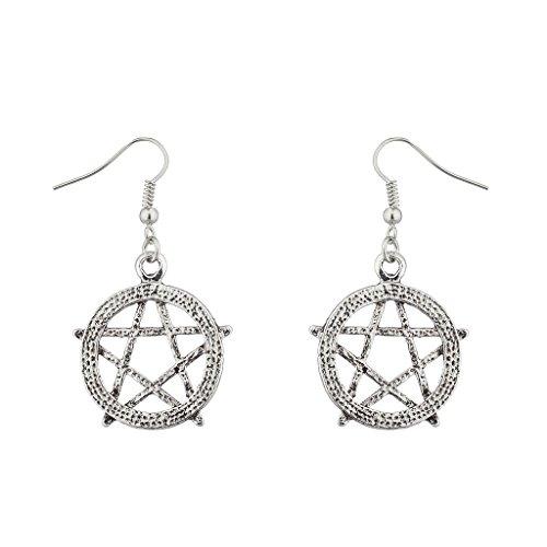 Lux accessori Goth Pentagram Occult Orecchini pendenti.